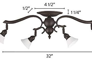 Canarm IT217A04ORB10 Addison 4 Light Dropped Track Lighting With Flat Opal Glass Shades Oil Rubbed Bronze 0 1 300x206