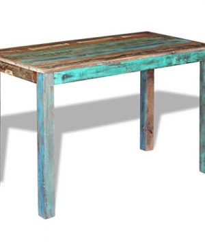 Canditree Antique Rectangular Dining Table Solid Reclaimed Wood 453x236x30 For Dining Room Kitchen 0 0 300x360
