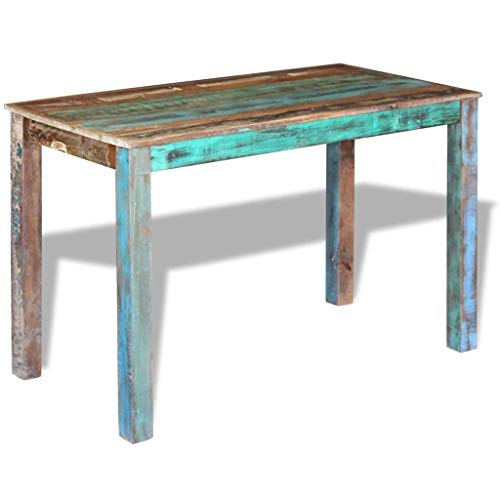 Canditree Antique Rectangular Dining Table Solid Reclaimed Wood 453x236x30 For Dining Room Kitchen 0 0