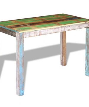 Canditree Antique Rectangular Dining Table Solid Reclaimed Wood 453x236x30 For Dining Room Kitchen 0 1 300x360