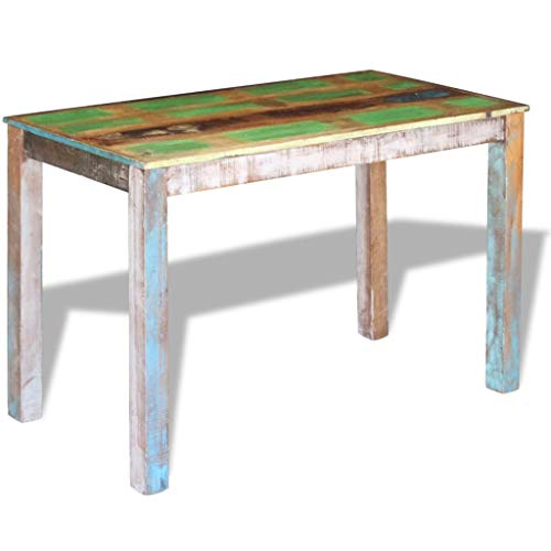 Canditree Antique Rectangular Dining Table Solid Reclaimed Wood 453x236x30 For Dining Room Kitchen 0 1