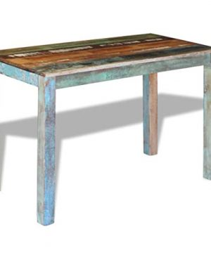 Canditree Antique Rectangular Dining Table Solid Reclaimed Wood 453x236x30 For Dining Room Kitchen 0 2 300x360