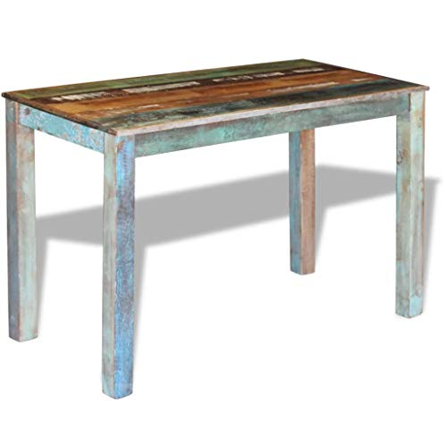 Canditree Antique Rectangular Dining Table Solid Reclaimed Wood 453x236x30 For Dining Room Kitchen 0 2