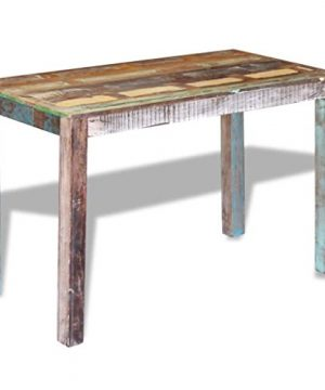 Canditree Antique Rectangular Dining Table Solid Reclaimed Wood 453x236x30 For Dining Room Kitchen 0 3 300x360
