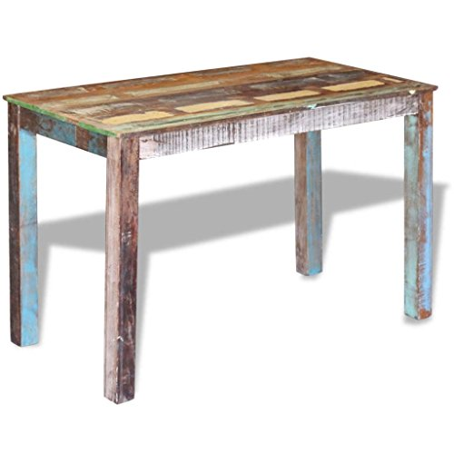 Canditree Antique Rectangular Dining Table Solid Reclaimed Wood 453x236x30 For Dining Room Kitchen 0 3