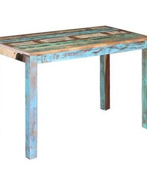 Canditree Antique Rectangular Dining Table Solid Reclaimed Wood 453x236x30 For Dining Room Kitchen 0 300x360