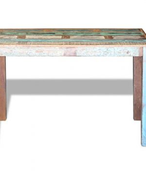 Canditree Antique Rectangular Dining Table Solid Reclaimed Wood 453x236x30 For Dining Room Kitchen 0 4 300x360