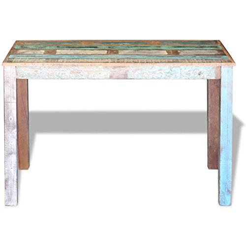 Canditree Antique Rectangular Dining Table Solid Reclaimed Wood 453x236x30 For Dining Room Kitchen 0 4