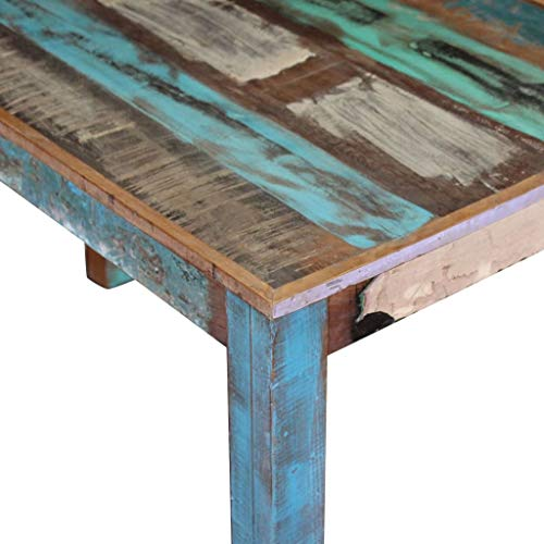 Canditree Antique Rectangular Dining Table Solid Reclaimed Wood 453x236x30 For Dining Room Kitchen 0 5