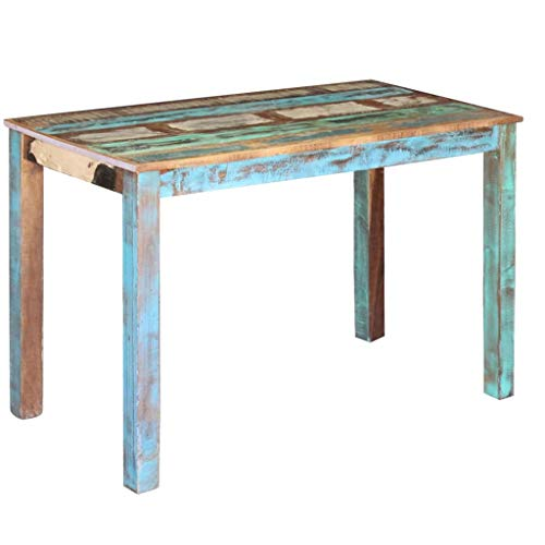 Canditree Antique Rectangular Dining Table Solid Reclaimed Wood 453x236x30 For Dining Room Kitchen 0