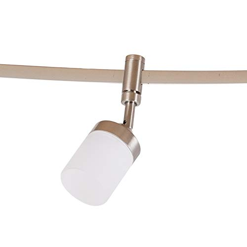 Catalina Lighting 21904 000 Transitional 6 Integrated LED Flex Track Ceiling Light Bulbs Included 96 Brushed Nickel 0 2