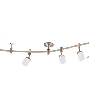 Catalina Lighting 21904 000 Transitional 6 Integrated LED Flex Track Ceiling Light Bulbs Included 96 Brushed Nickel 0 300x334