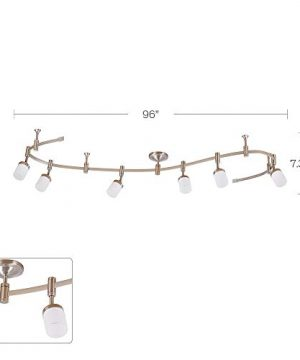 Catalina Lighting 21904 000 Transitional 6 Integrated LED Flex Track Ceiling Light Bulbs Included 96 Brushed Nickel 0 4 300x360