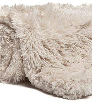 Chanasya Shaggy Longfur Faux Fur Throw Blanket Fuzzy Lightweight Plush Sherpa Fleece Microfiber Blanket For Couch Bed Chair Photo Props 50x65 Inches Cream 0 2 300x334