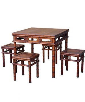 Chinese Brown Huali Rosewood Square Table Chair 5 Pieces Set Acs4636 0 300x360