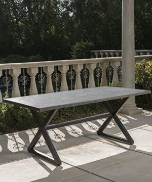 Christopher Knight Home Rolando Outdoor Aluminum Dining Table With