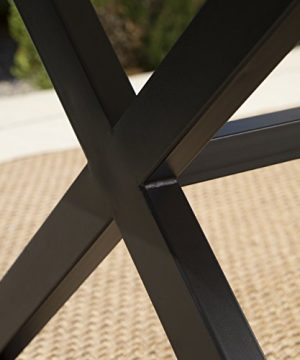 Christopher Knight Home 302486 Rolando Outdoor Grey Aluminum Dining Table With Black Steel Frame 0 2 300x360