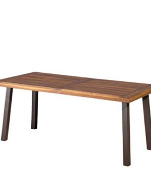 Christopher Knight Home Daria Stained Acacia Dining Table Natural Wood 0 300x360