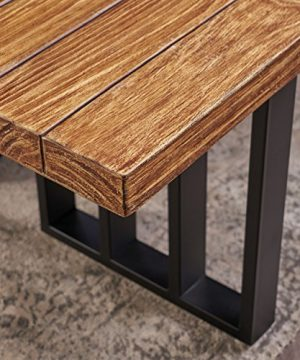 Christopher Knight Home Jasmine Indoor Farmhouse Natural Oak Finish Light Weight Concrete Dining Table Black 0 3 300x360