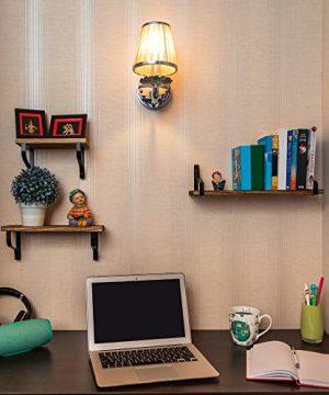 Clarkes Decor Floating Shelves Wall Shelves Set Of 3 Hanging Wood Shelves For Bedroom Bathroom Or Kitchen Wall Shelf With Hooks Small Home Rustic Bookshelf Long Mounted Rod 0 4 300x360