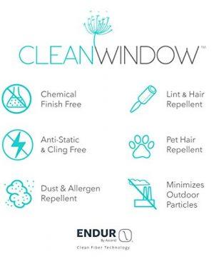 Clean Window Twill Stripe AllergyPet Friendly Anti Dust Sheer Curtain Panel 52 X 84 BlackLinen 0 0 300x360