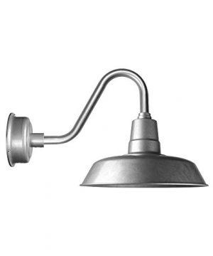 Cocoweb 12 Inch Barn Light In Galvanized Silver 0 300x360