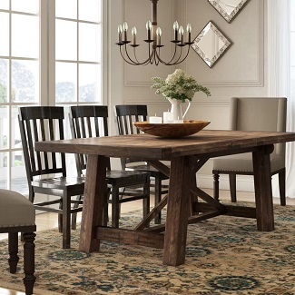 Colborne Acacia Solid Wood Dining Table