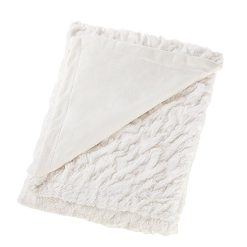 Comfort Spaces Ruched Faux Fur Plush 3 Piece Throw Blanket Set Ultra Soft Fluffy With 2 Square Pillow Covers 50x60 Ivory 0 0