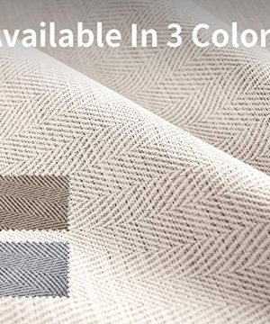 Curtains 84 Inch Beige Textured Herringbone Curtains Room Darkening Window Curtains Bedroom Living Room Kitchen 2 Panels One Set 0 0 300x360