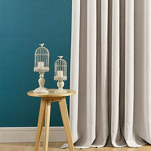 Curtains 84 Inch Beige Textured Herringbone Curtains Room Darkening Window Curtains Bedroom Living Room Kitchen 2 Panels One Set 0 1