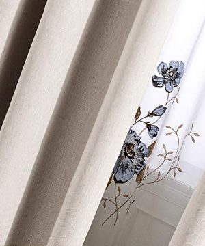 Curtains 84 Inch Beige Textured Herringbone Curtains Room Darkening Window Curtains Bedroom Living Room Kitchen 2 Panels One Set 0 3 300x360
