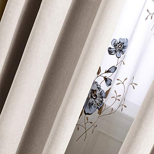 Curtains 84 Inch Beige Textured Herringbone Curtains Room Darkening Window Curtains Bedroom Living Room Kitchen 2 Panels One Set 0 3