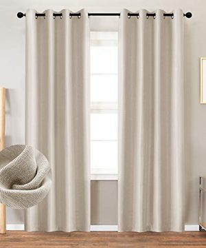 Curtains 84 Inch Beige Textured Herringbone Curtains Room Darkening Window Curtains Bedroom Living Room Kitchen 2 Panels One Set 0 300x360