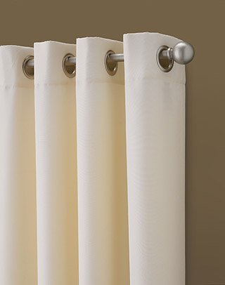 Curtainworks Kendall Color Block Grommet Curtain Panel 95 Inch Ivory 0 0