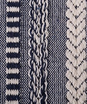 DII Farmhouse Cotton Stripe Blanket Throw With Fringe For Chair Couch Picnic Camping Beach Everyday Use 50 X 60 Braided Stripe Navy 0 0 300x360