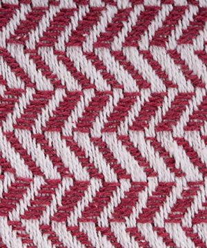 DII Modern Farmhouse Cotton Herringbone Blanket Throw With Fringe For Chair Couch Picnic Camping Beach Everyday Use 50 X 60 Herringbone Chevron Barn Red 0 0 300x360