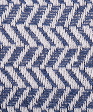 DII Modern Farmhouse Cotton Herringbone Blanket Throw With Fringe For Chair Couch Picnic Camping Beach Everyday Use 50 X 60 Herringbone Chevron French Blue 0 0 300x360