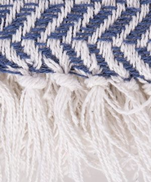 DII Modern Farmhouse Cotton Herringbone Blanket Throw With Fringe For Chair Couch Picnic Camping Beach Everyday Use 50 X 60 Herringbone Chevron French Blue 0 1 300x360