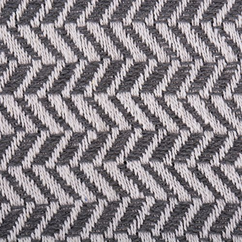 DII Modern Farmhouse Cotton Herringbone Blanket Throw With Fringe For Chair Couch Picnic Camping Beach Everyday Use 50 X 60 Herringbone Chevron Mineral Gray 0 0