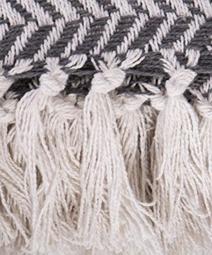 DII Modern Farmhouse Cotton Herringbone Blanket Throw With Fringe For Chair Couch Picnic Camping Beach Everyday Use 50 X 60 Herringbone Chevron Mineral Gray 0 1 300x360