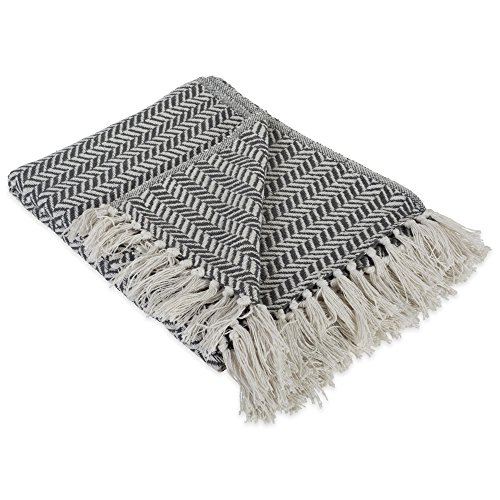 DII-Modern-Farmhouse-Cotton-Herringbone-Blanket-Throw-with-Fringe-For-Chair-Couch-Picnic-Camping-Beach-Everyday-Use-50-x-60-Herringbone-Chevron-Mineral-Gray-0