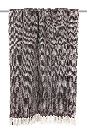 DII Rustic Farmhouse Cotton Chevron Blanket Throw With Fringe For Chair Couch Picnic Camping Beach Everyday Use 50 X 60 Mini Chevron Black 0 1