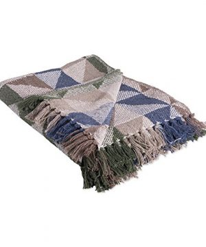DII-Rustic-Farmhouse-Cotton-Jacquard-Blanket-Throw-with-Fringe-For-Chair-Couch-Picnic-Camping-Beach-Everyday-Use-50-x-60-Triangle-Jacquard-Natural-0