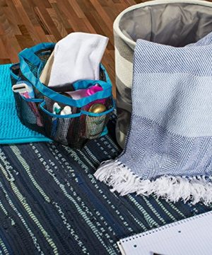 DII Rustic Farmhouse Cotton Stripe Blanket Throw With Fringe For Chair Couch Picnic Camping Beach Everyday Use 50 X 60 Rugby Stripe Blue 0 2 300x360