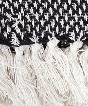 DII Throw 50x60 With 25 Fringe Woven Black 0 0 300x360