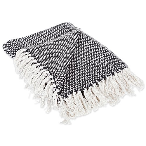 DII Throw 50x60 With 25 Fringe Woven Black 0