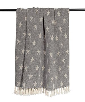 DII Woven Throw Blanket With Decorative Fringe Star Gray 0 1 300x360