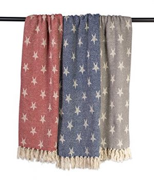 DII Woven Throw Blanket With Decorative Fringe Star Gray 0 2 300x360