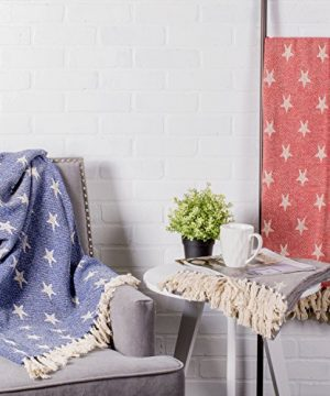 DII Woven Throw Blanket With Decorative Fringe Star Gray 0 3 300x360