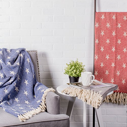 DII Woven Throw Blanket With Decorative Fringe Star Gray 0 3
